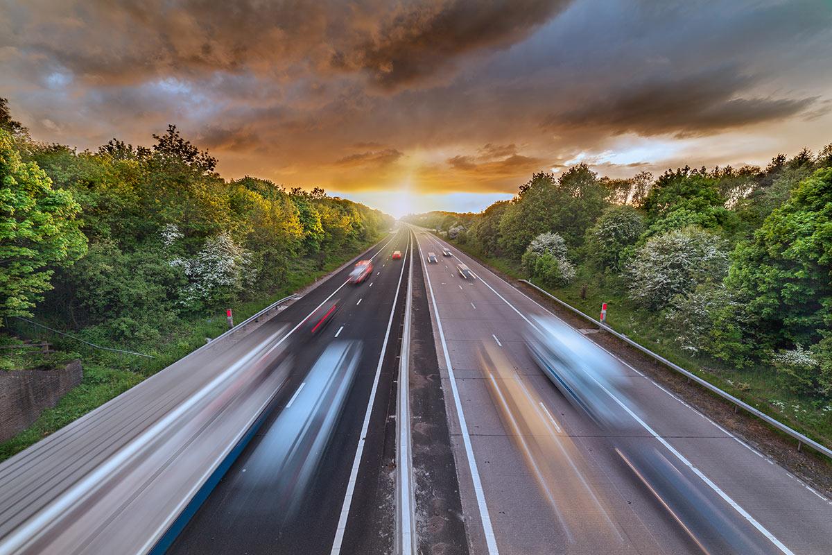 Traffic on motorway